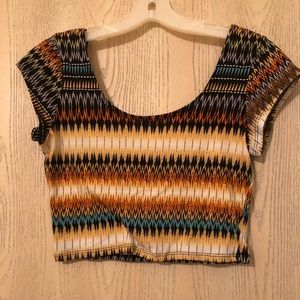 Aztec design cropped top